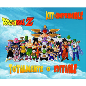 Kit Imprimible Dragon Ball Z Candy Bar Editable