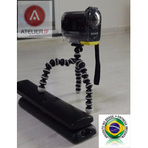 Tripé Flexível Para Sony Action Cam Hdr-as15 Ou As-30