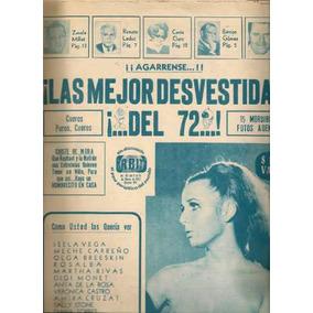 Las Bellezas Vedettes Actrices Especial Revista Orbita 1972
