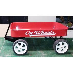 Juguete Wagon On Wheels Carrito De Arrastre Metálico Carro