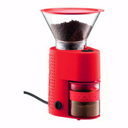 Molino De Cafe Bodum Bistro Electric Burr 14 Settings Rojo
