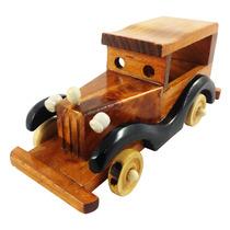 Carro Miniatura Retro Madeira Calhambeque Enfeite Decoraçao