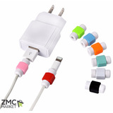 10 Protectores De Cable Para Iphone Ipod Ipad Microusb Usb