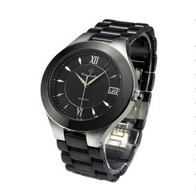 Relógio De Ceramica Com Aço Inox E Cristal De Safira