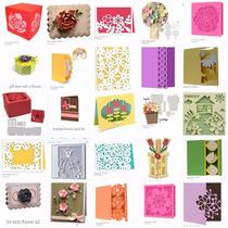 Silhouette Caixas Cartao 3d Flores Moldes Envio Em10 Minutos