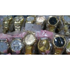 Kit/lote 10 Relógio Feminino Pulso Dourado Exclusivo Atacado