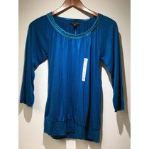 Blusa Banana Republic Original Turquesa