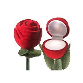Estuche Joyeria Rosa, Flor, Regalo, Caja, Arete Anillo, Bbf