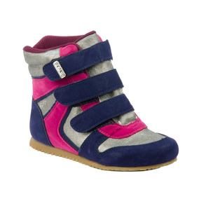 Sneaker Beakid Com Três Velcro Velcro Marinho/pink