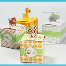 1 Cajita Dulcero Con Figura De Animalitos Para Baby Shower