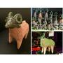 Figuras Animales De Barro, Para Sembrar Chia Altar Macetas