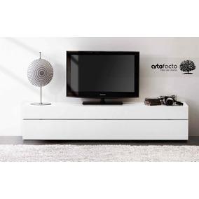 Mueble De Tv Minimalista Laca O Madera Para Pantalla Lcd Led