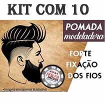Kit 10 Pomada Modeladora Incolor 120g Poker Mens + Brinde