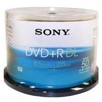 Dvd+r Dl Sony (id: Moser) 8.5gb 8x Printable - 50 Un (pino)