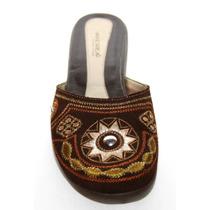 * Remate Zapatos Zuecos Flats Marca Andrea Cafe 4.5 Nuevos
