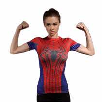 Playera Deportiva Spiderman Gym - Tecnología Coolmax