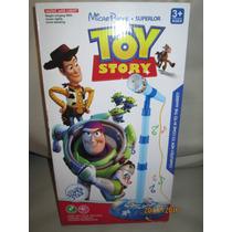 Microfono Infantil Toy Story De Pie Simple Parlantes Y Luces