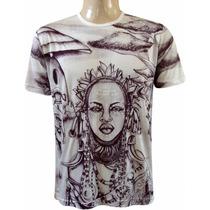 Camiseta Básica Colar Africano Da Indiana Cod 108/110