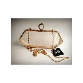 Bolsa Clutch Transparente Em Acrílico