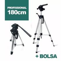 Tripé 1,80m Universal Profissional Canon Nikon +bolsa
