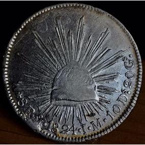Moneda 8 Reales 1824 Mexico Aguila Perfil Excelente Plata Or