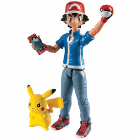 Boneco Pokémon Ash + Pikachu C/ Pokebola Tomy To-18516