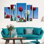 Tulipanes Bastidor En Tela Canvas 120 Cm X 80 Cm