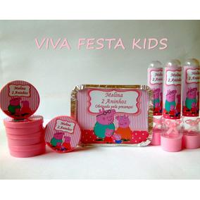 Kit Festa Personalizada Peppa Pig, Fazendinha E Etc C/60 Un