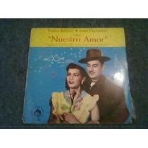 Disco L.p Acetato De Pedro Infante Nuestro Amor