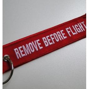 Chaveiro Remove Before Flight Vermelho