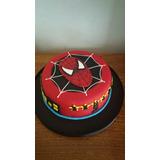 Torta Hombre Araña Spiderman Superheroes 2 Kilos