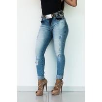 Calça Feminina Jeans Oppnus Cos Medio Débora 23112