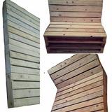 Eco Mueble Sofa/cama/mesa/taburete/camastro Madera Rustico