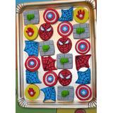 Galletitas Cookies Decoradas Spiderman Hulk Iron Man Capitan
