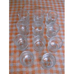 Vaso Shot De Vidrio Tallado X 11 Unidades Antigüedad