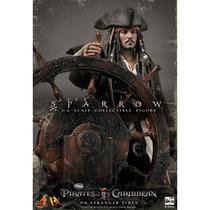 Jack Sparrow Hot Toys Dx06 Piratas Caribe Johnny Deep Novo