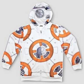Bb8 Star Wars Sudadera Chamarra Niño T-m Disfraz Disney