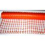 Malla Plastica Naranja Fluo Red Plastica Seguridad 1x50 Mt