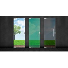 Porta De Blindex Vidro Incolor 2,10x0,80 Pivotante
