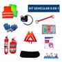 Matafuegos 1 Kg + 8 Elementos + Compresor Kit De Seguridad