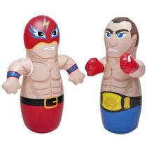 Juguete Punching Bag Luchador O Boxeador Inflable Con Envío