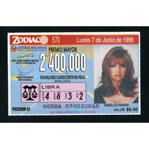 Billete De Loteria Zodiaco Angelica Rivera