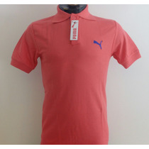 Camisa Playera Tipo Polo Puma Color Salmon Hombre