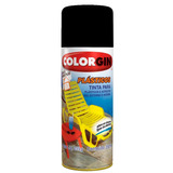 Tinta Spray Plástico Colorgin 350 Ml Preto Fosco - 1511