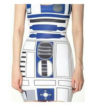 Vestido Star Wars R2d2 Halloween Fantasia Nerd Promoção