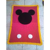 Cobija Mickey Mouse Tejida A Mano