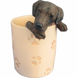 Portalapices De Ceramica Labrador Chocolate - Hermoso!