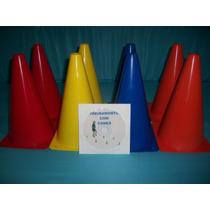 Kit 6 Cones Demarcatório 23 Cm +1 Dvd De Exercicios + Brinde