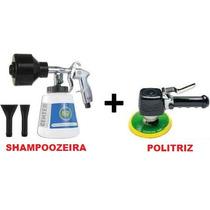 Kit Politriz Profissional Enceradeira Cera + Shampoozeira