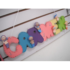 Letreros ($30 Letra) Nombre En Madera Y Pasta Francesa Vmj